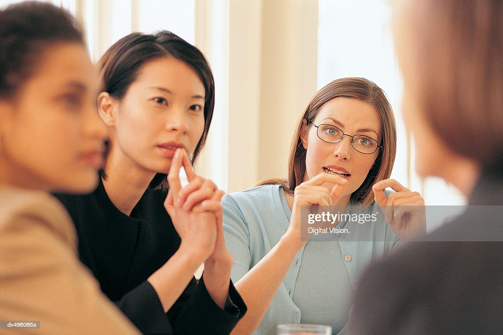 Businesswomen in meeting : Stock Photo
