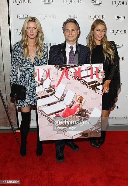 Businesswomen Nicky Hilton Founder of DuJour Media Jason Binn and Paris Hilton attend Jason Binn's celebration of Paris Hilton's Spring Cover on...
