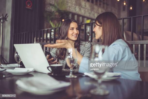 Businesswomen on lunch
