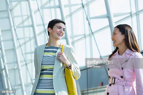 Businesswomen walking in airport