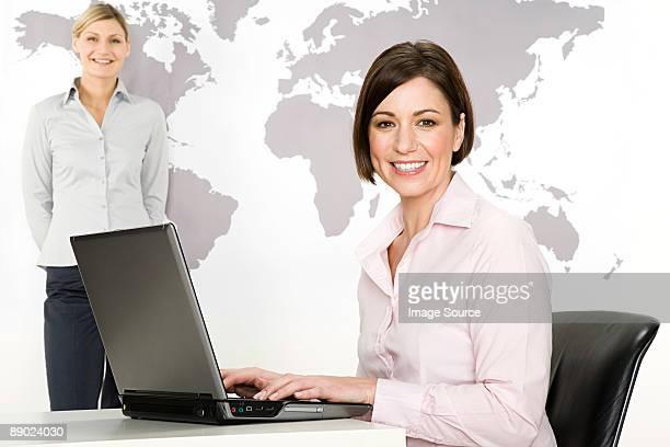 Businesswomen with laptop