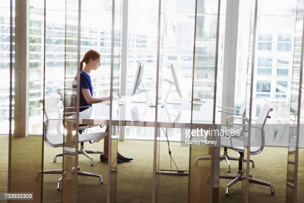 Businesswomen working in office, London, UK