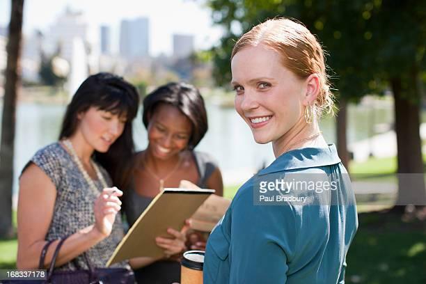 Businesswomen で働く公園