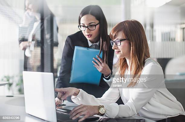 Businesswomen Working in the Office
