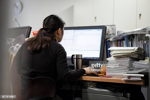 Businesswomen working on a computer in the office