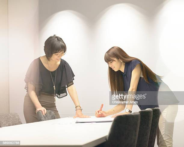 Businesswomen Working Together