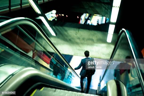 Businnes man in Azca, Financial district in Madrid, Spain.