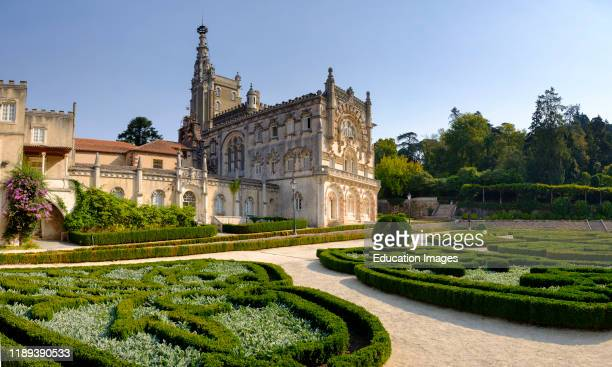 Bussaco Palace and Gardens now Bussaco Palace Hotel, Commissioned in 1888 by King Charles I, near Luso, Portugal.