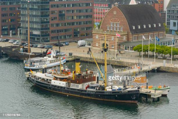 Bussard steam ship and Cog ship at the Kiel Maritime Museum