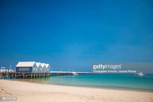 busselton jetty, geographe bay, cape naturaliste, western australia - austrália ocidental - fotografias e filmes do acervo