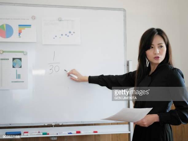 bussiness leader - japanese ol ストックフォトと画像