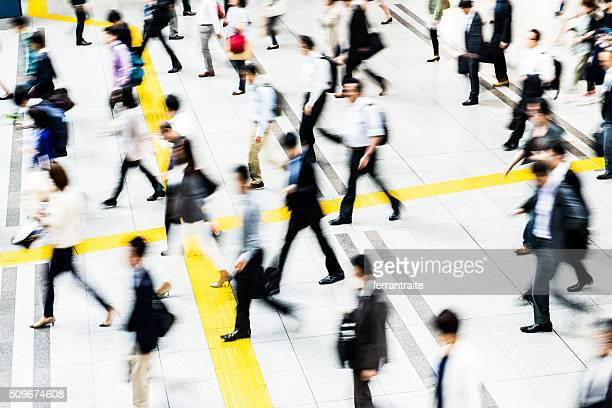 Bussiness people commuting to work in Tokyo