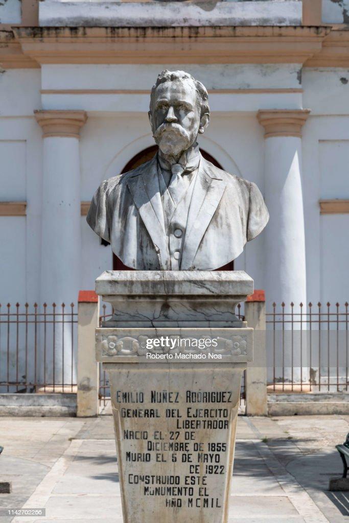 Bust honoring Emilio Nunez Rodriguez  It is made of white