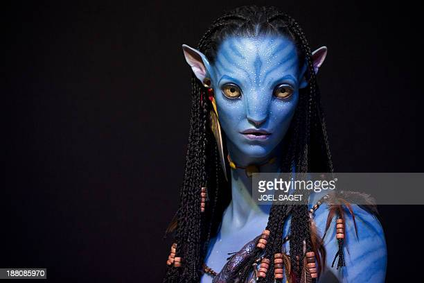 A bust in 3D by Legacy Effect of a character from the film Avatar is displayed in the 3 D Print Show exhibition in Paris on November 15 2013 AFP...