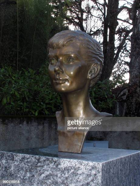 A bust in the likeness of American actressAudrey Hepburn in Tolochenaz Switzerland 06 January 2018 Hepburn died here 25 years ago where she lived...