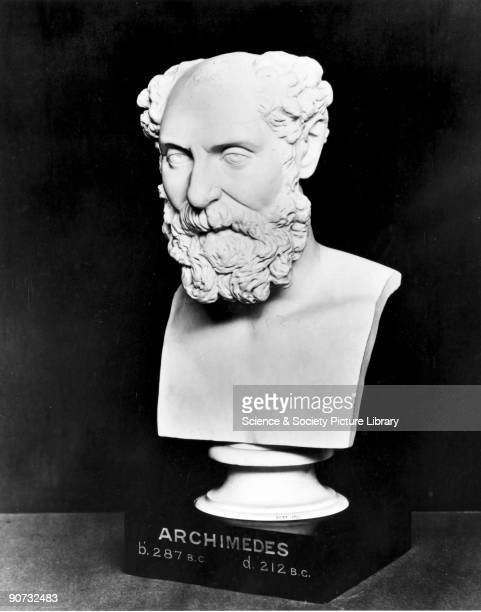 Bust made before 1876 of Archimedes who is one of the most celebrated figures of the ancient world His major importance in mathematics was his...