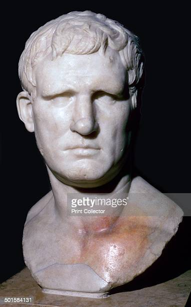 Bust of Agrippa one of Augustus' generals He was son in law to Augustus father in law of Tiberius grandfather of Caligula and greatgrandfather of...