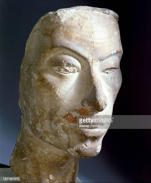 Bust of Akhenaten by a court sculptor Egypt Ancient Egyptian Amarna 18th Dynasty c 1373 1357 BC
