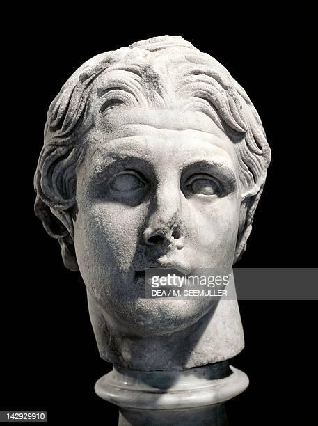 Bust of Alexander Hellenistic marble sculpture from Pergamum Turkey Greek civilization 2nd Century BC Istanbul Arkeoloji Muzerleri