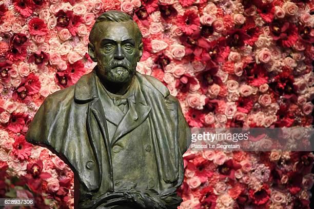 Bust of Alfred Nobel in display during the Nobel Prize Awards Ceremony at Concert Hall on December 10 2016 in Stockholm Sweden