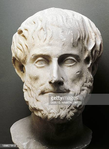 Bust of Aristotle Greek philosopher and scientist Palermo Museo Archeologico Regionale