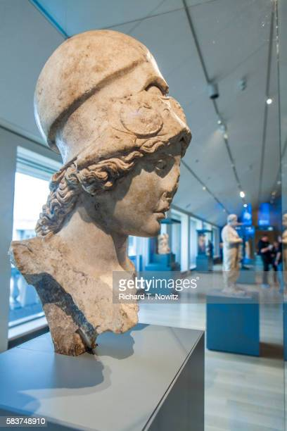 bust of athena - art institute of chicago stock pictures, royalty-free photos & images
