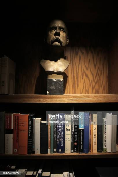 Bust of Charles Francis Adams II is pictured in the office of Peter Drummey, the librarian of the Massachusetts Historical Association, in Boston on...