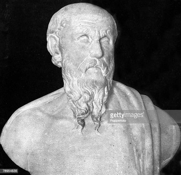 A bust of Diogenes of Sinope the Greek Cynic philosopher and moralist