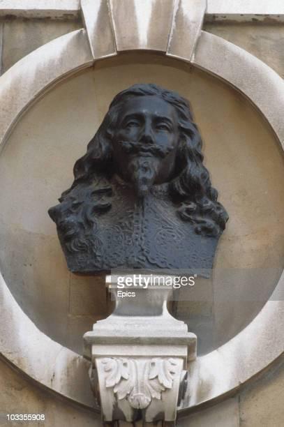 Bust of English king Charles I 1660-1649 at Banqueting House, Westminster circa 1985.