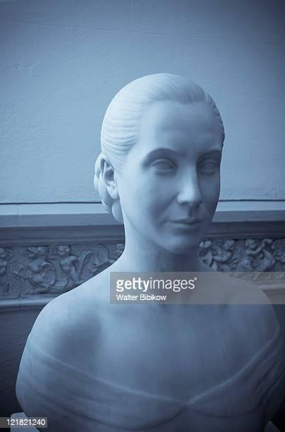 bust of eva peron, evita museum, palermo, buenos aires, argentina - eva perón stock pictures, royalty-free photos & images