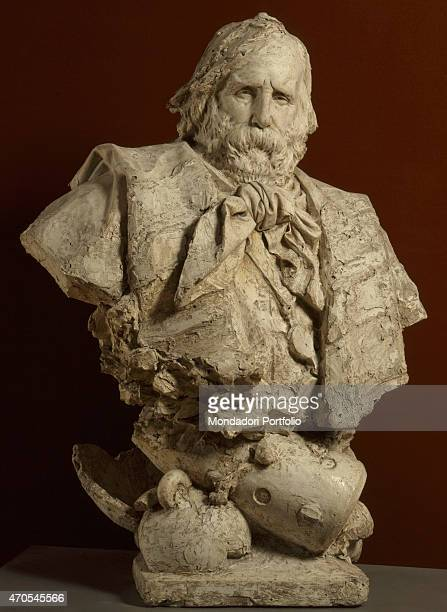 'Bust of Garibaldi by Ercole Rosa 19th Century gypsum 120 x 80 x 55 cm Italy Lazio Rome National Gallery of Modern and Contemporary ArtGNAM Whole...