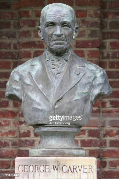A bust of George Washington Carver