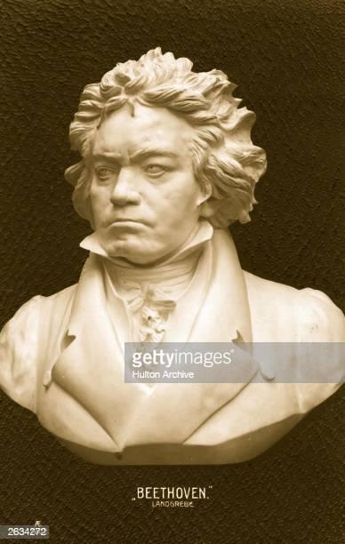 A bust of German composer Ludwig van Beethoven