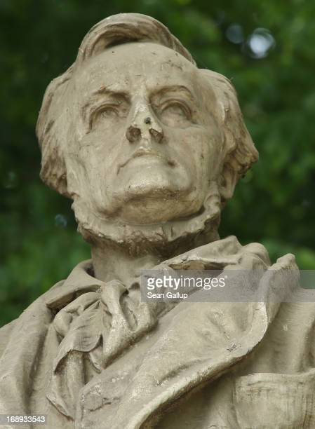 A bust of German composer Richard Wagner stands in Tiergarten park on May 17 2013 in Berlin Germany The 200th anniversary of Wagner's birth is...