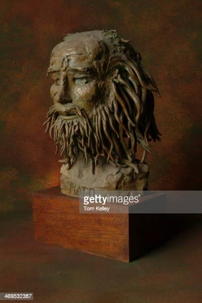Bust of Greek philosopher Plato 2010
