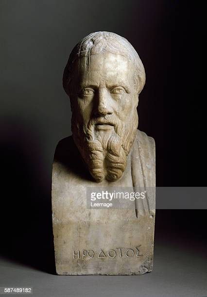Bust of Herodotus Marble sculpture copy of a Greek original 4th century BC Museo Nazionale Archeologico Naples