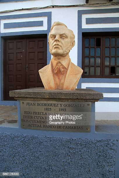 Bust of Juan Rodriguez y Gonzales founder of Banco of Canaries Tetir Fuerteventura Canary Islands Spain