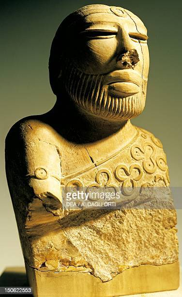 Bust of king or priest statue from Mohenjodaro Pakistan Indus Valley Civilisation