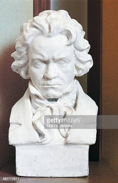 Bust of Ludwig van Beethoven German composer and pianist Beethoven Museum Brunswick castle Martonvasar Hungary