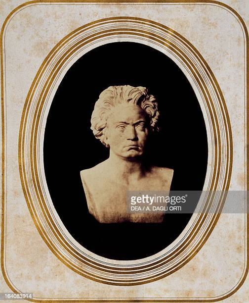 Bust of Ludwig van Beethoven photograph reproduction issued on the centenary of his birth Vienna Historisches Museum Der Stadt Wien