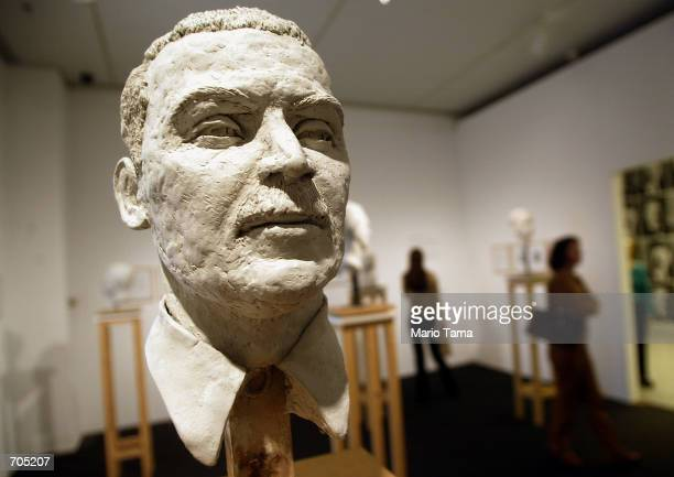 Bust of Nazi criminal Josef Mengele, part of a piece by Christine Borland titled L''Homme Bouble, is displayed as part of the Mirroring Evil:Nazi...