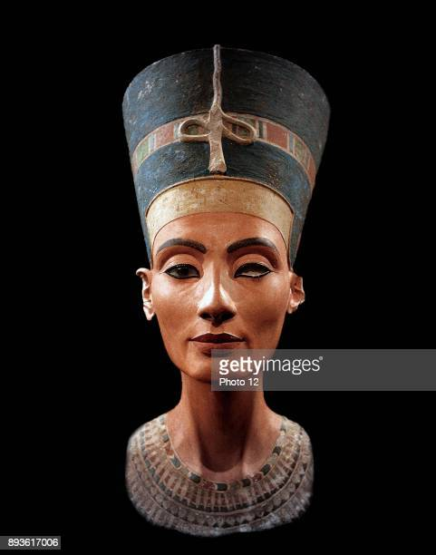 Bust of Nefertiti Great Royal Wife to the Egyptian Pharaoh Akhenaten Nefertiti and her husband were known for a religious revolution They worshipped...