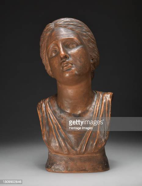 Bust of Niobe's Daughter, after the Antique;Head of Niobe, after the Antique, 1780. Artist Anne Seymour Damer. .