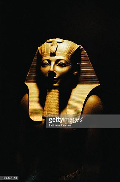 bust of pharaoh - mummified stock photos and pictures