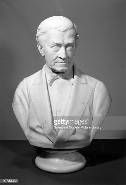 Bust of Sir Charles Wheatstone a pioneer of electric telegraphy In 1837 together with William Fothergill Cooke he patented the fiveneedle telegraph...