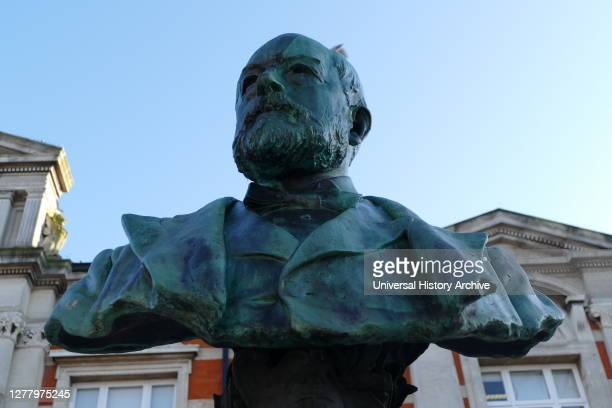 Bust of Sir Henry Tate 1st Baronet was an English sugar merchant and philanthropist noted for establishing the Tate Gallery in London Bust located in...