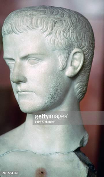 Bust of the Roman emperor Caligula from the Louvre's collection 1st century
