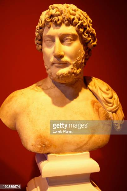Bust of the Roman emperor Hadrian  (reigned from AD 117-138) in the National Archaeological Museum in Athens.