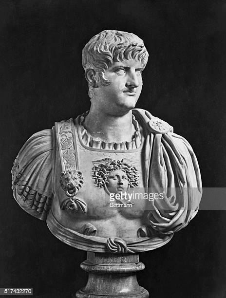 Bust of the Roman Emperor Nero The bust is in the Uffizi Gallery Florence Undated