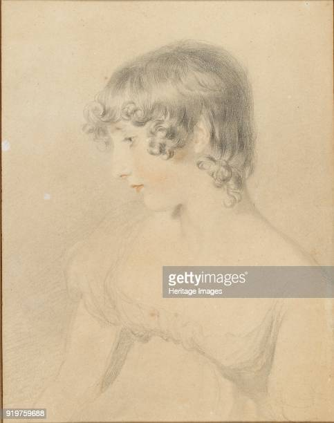Bust portrait of Susan Bloxam turned in profile to left 1818 Artist Thomas Lawrence